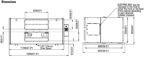 Fantech Shr11004 Heat Recovery Ventilator With Fan Shut Down Defrost 1050 Cfm  3 Speed