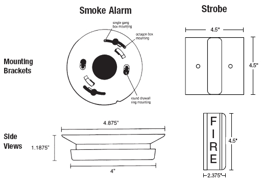 firex 242 diagram large firex smoke alarm accessories 242 hearing impaired kit firex smoke alarm wiring diagram at fashall.co