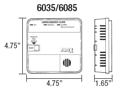 firex 6035 diagram firex 6040 carbon monoxide alarm, ac powered with battery back up firex g-6 wiring diagram at alyssarenee.co