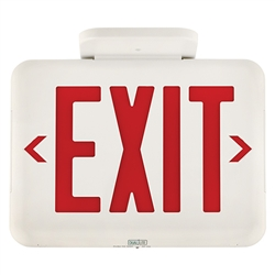 Dual Lite Eveurwei Led Exit Sign Single Double Face Red