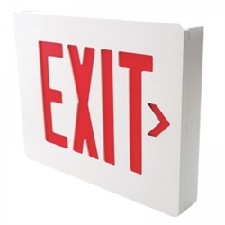 Dual Lite Sedrwn Sempra Die Cast Exit Sign Double Face