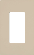 Lutron sc 1 tp claro satin screwless wallplate 1 gang in taupe - Gang grijze taupe ...
